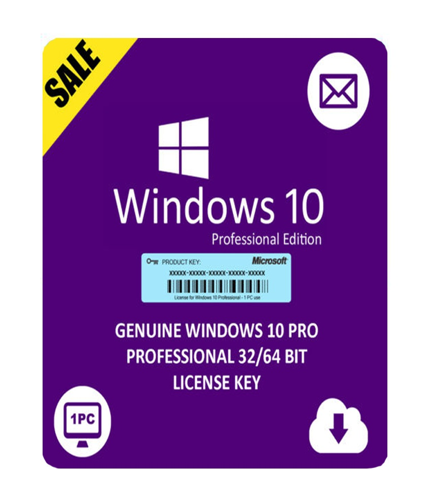 Windows 10 Pro Retail Product Key 32/64 Bit (Lifetime ...